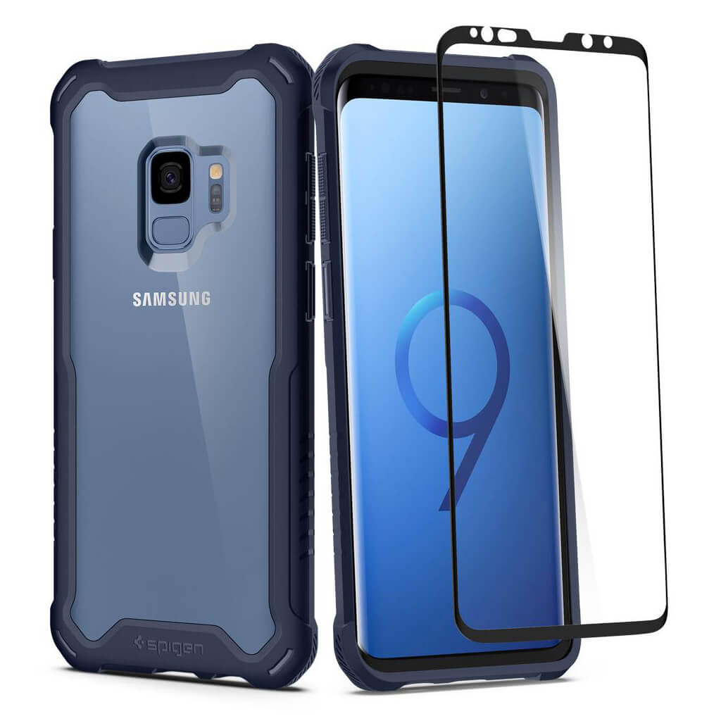 Spigen® Hybrid™ 360 592CS23041 Samsung Galaxy S9 Case - Deepsea Blue