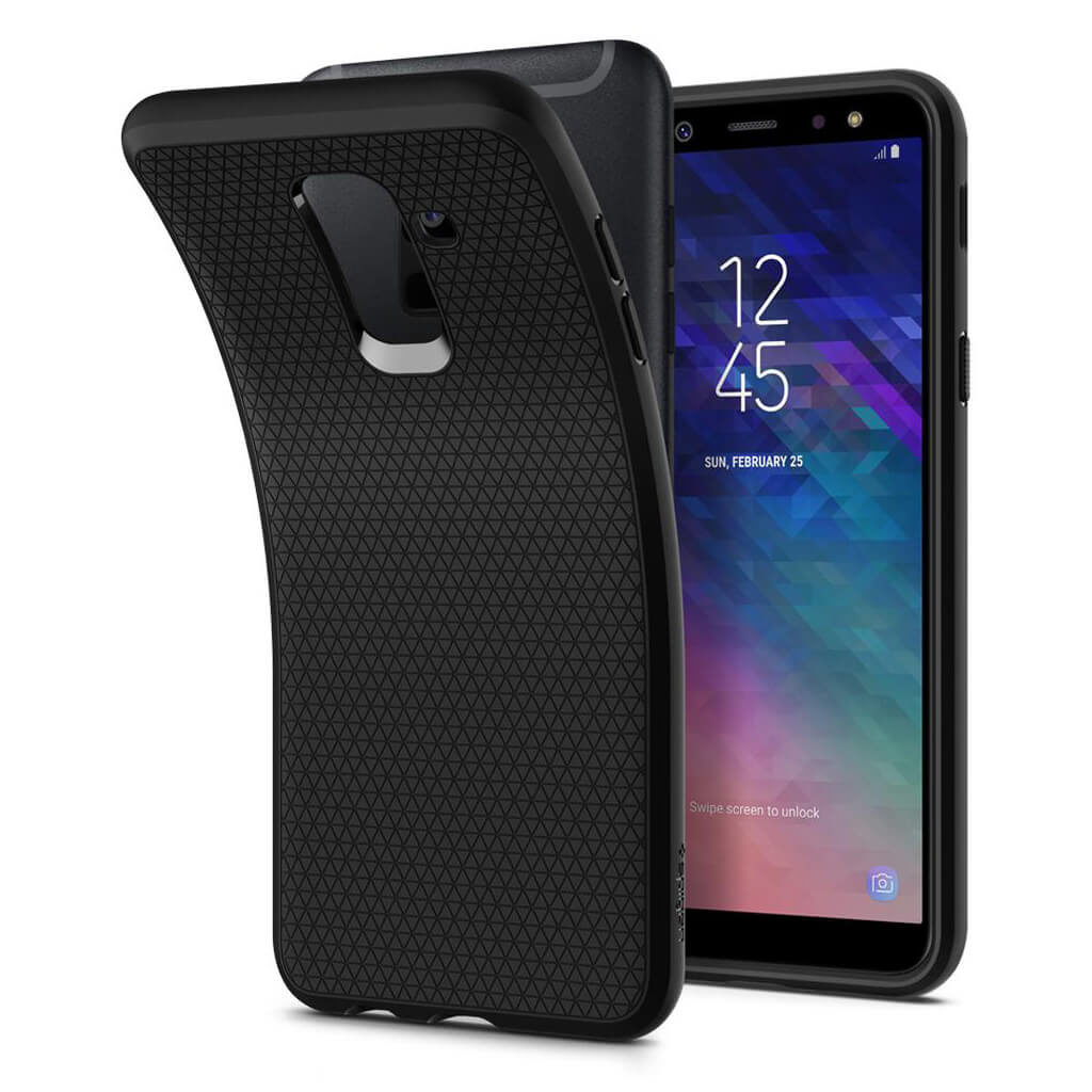 Spigen® Liquid Air™ 597CS24095 Samsung Galaxy A6+ Plus (2018) Case - Black