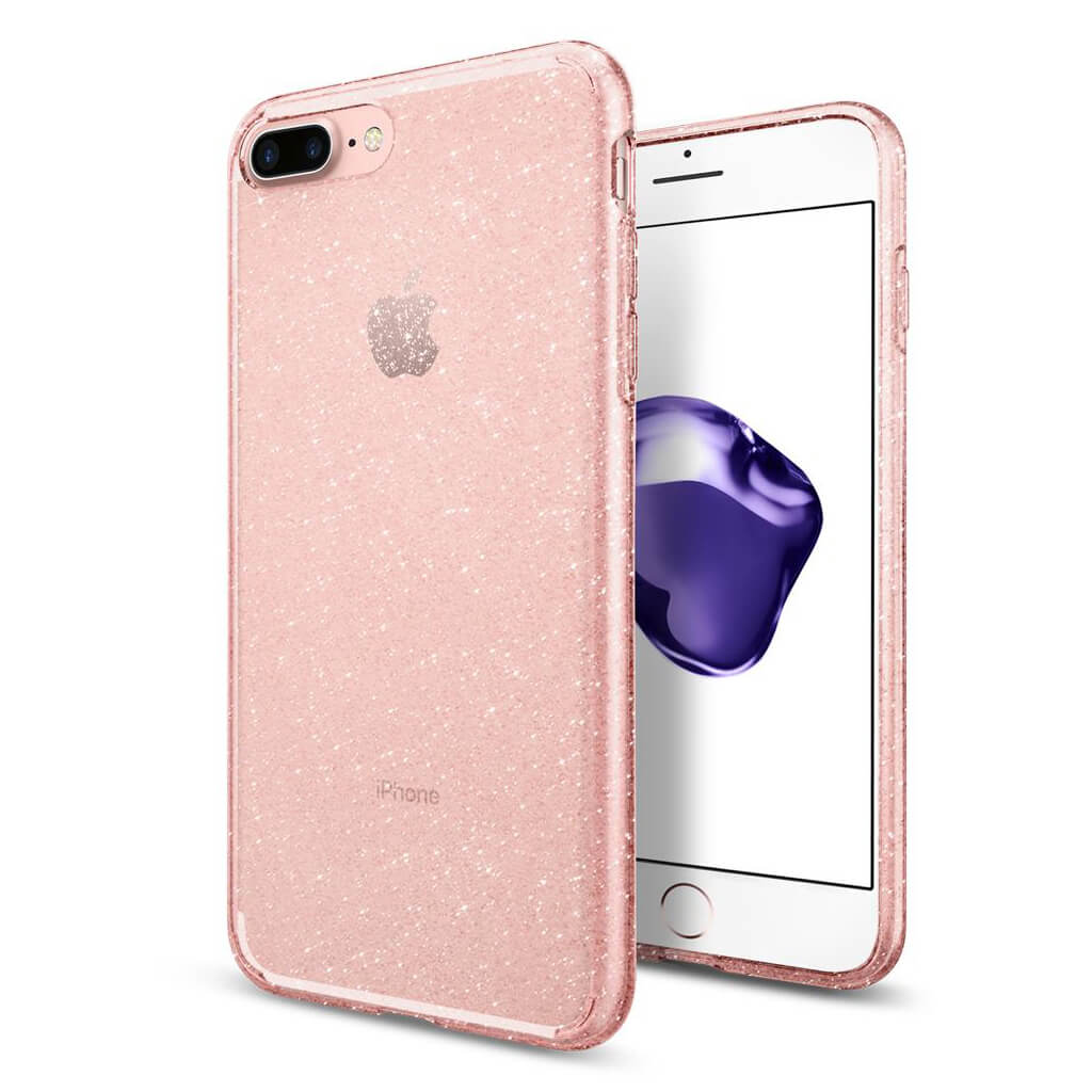 Spigen® Liquid Crystal™ Glitter 043CS21759 iPhone 8 Plus / 7 Plus Case - Rose Crystal