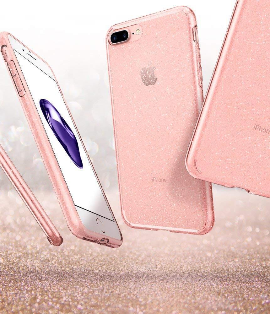 Spigen® Liquid Crystal™ Glitter 043CS21759 iPhone 8 Plus / 7 Plus Case - Rose Crystal