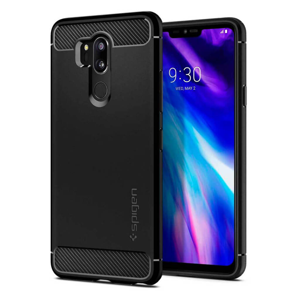 Spigen® Rugged Armor™ A27CS23033 LG G7 ThinQ Case - Black