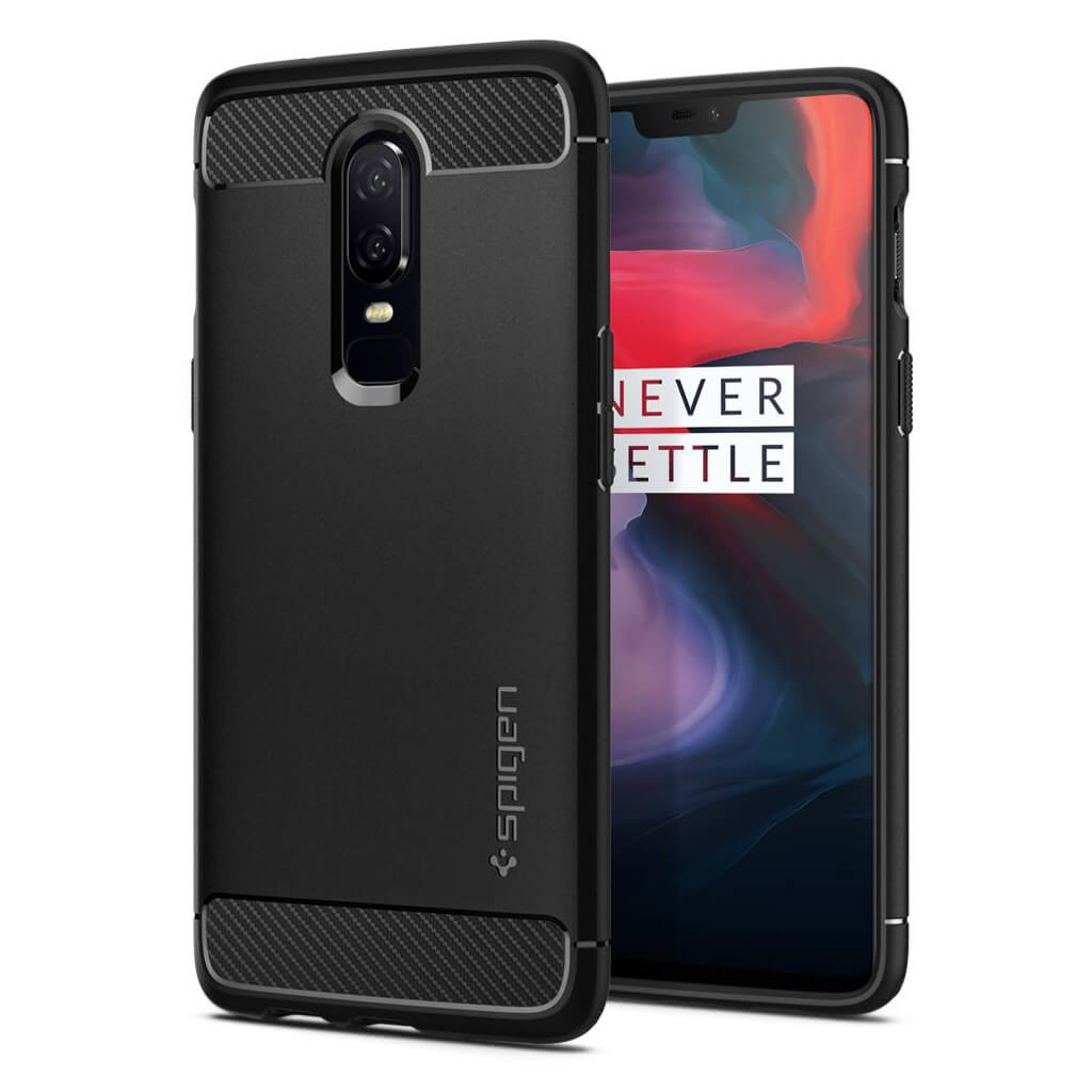 Spigen® Rugged Armor™ K06CS23358 OnePlus 6 Case - Black