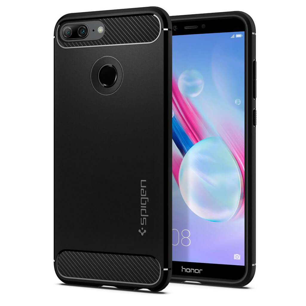 Spigen® Rugged Armor™ L28CS24126 Huawei Honor 9 Lite Case - Black