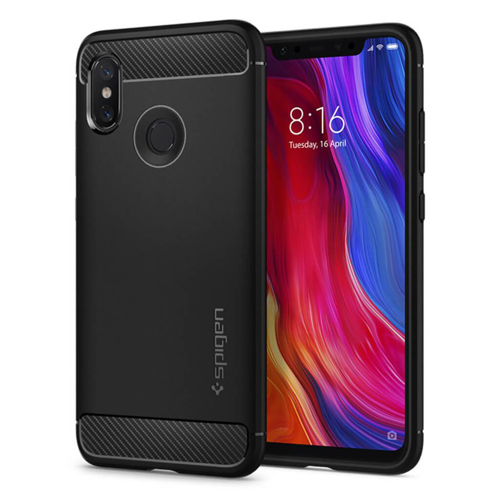 Spigen® Rugged Armor™ S11CS23359 Xiaomi Mi 8 Case - Black