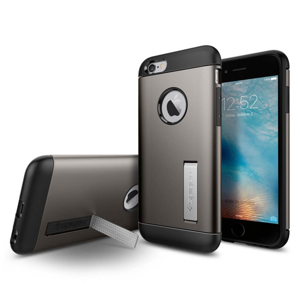 Spigen® Slim Armor™ SGP11605 iPhone 6 / 6s Case - Gunmetal