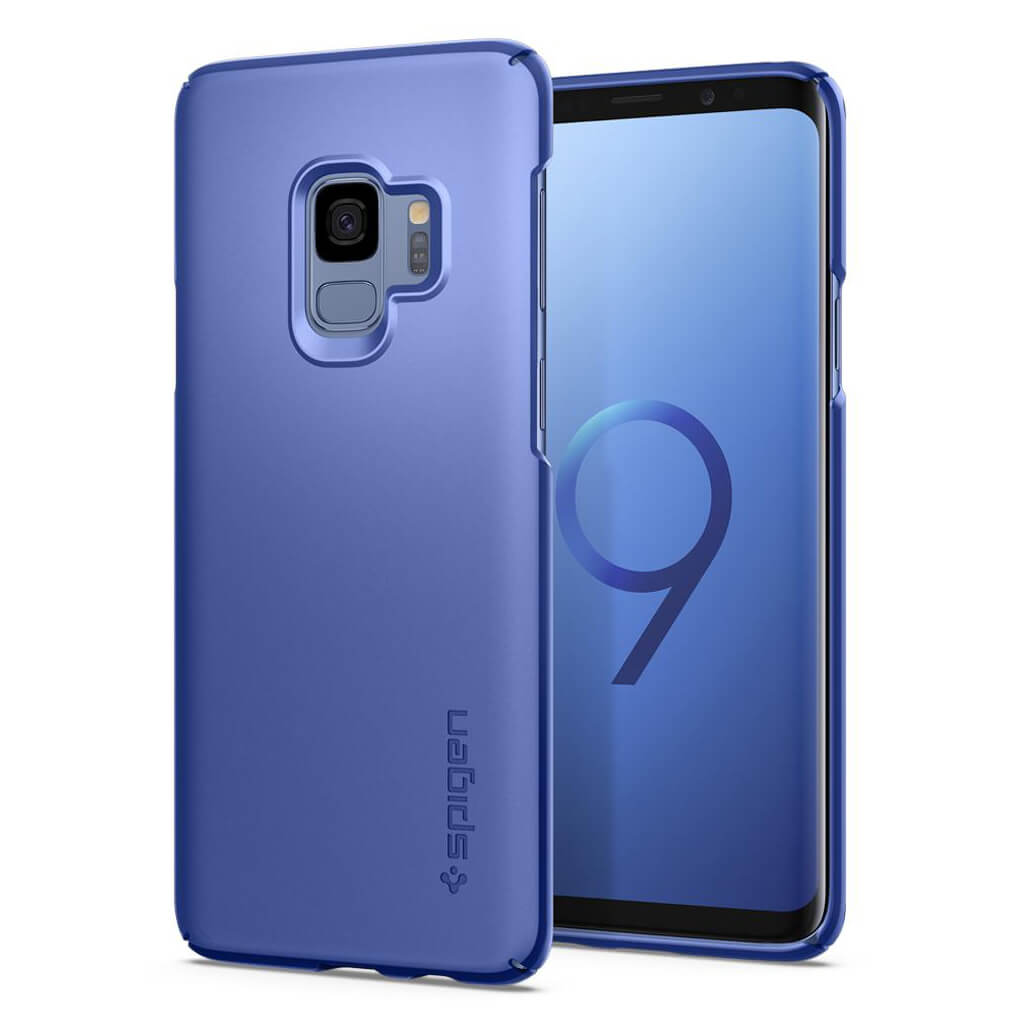 Spigen® Thin Fit™ 592CS22822 Samsung Galaxy S9 Case - Coral Blue