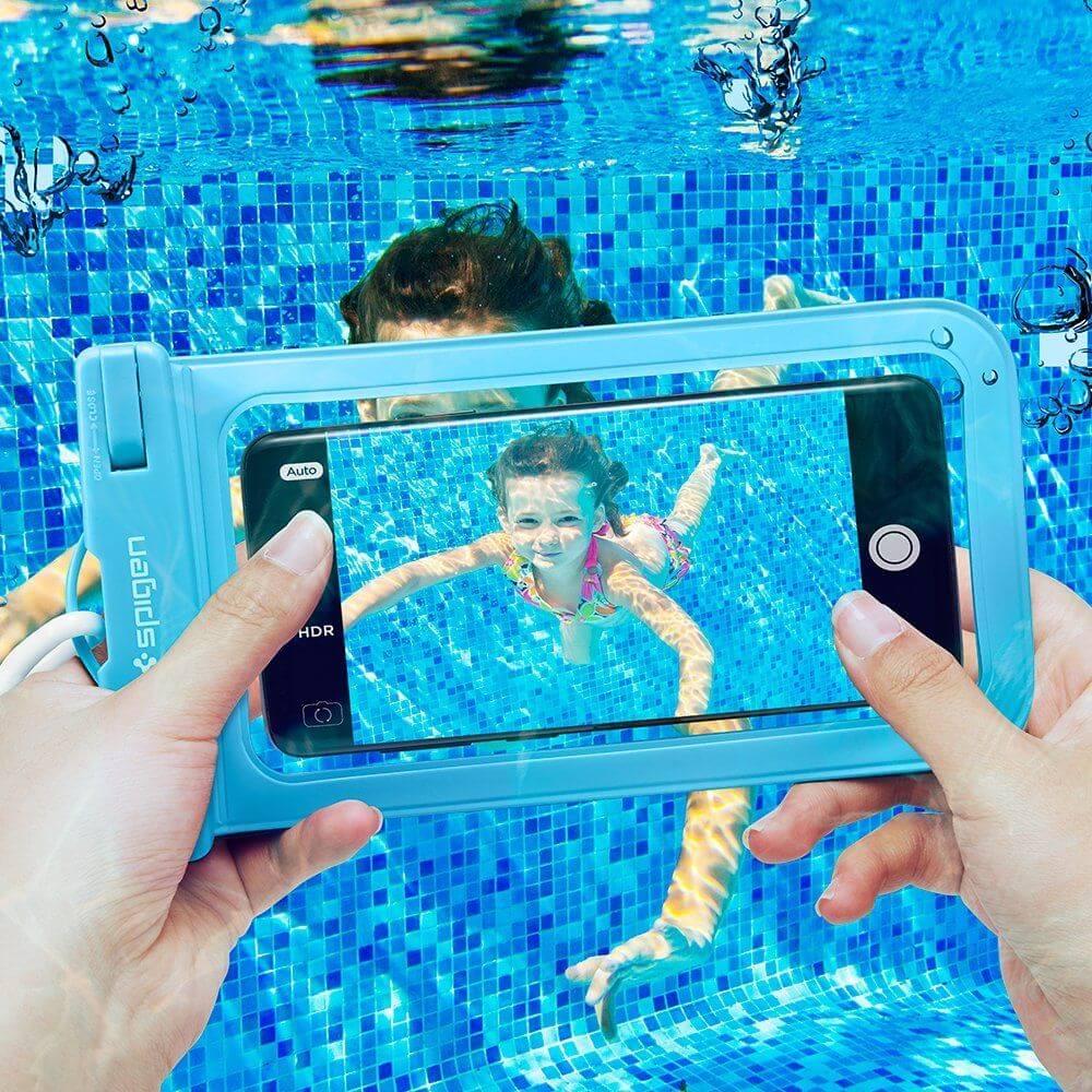 Spigen® Velo™ A600 000EM23354 IPX8 Certified Universal Waterproof Case - Blue