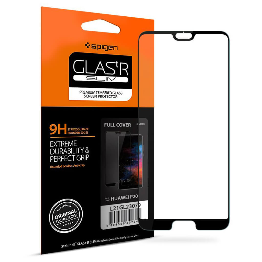 Spigen® GLAS.tR SLIM™ Huawei P20 FULL COVER Premium Tempered Glass Screen Protector