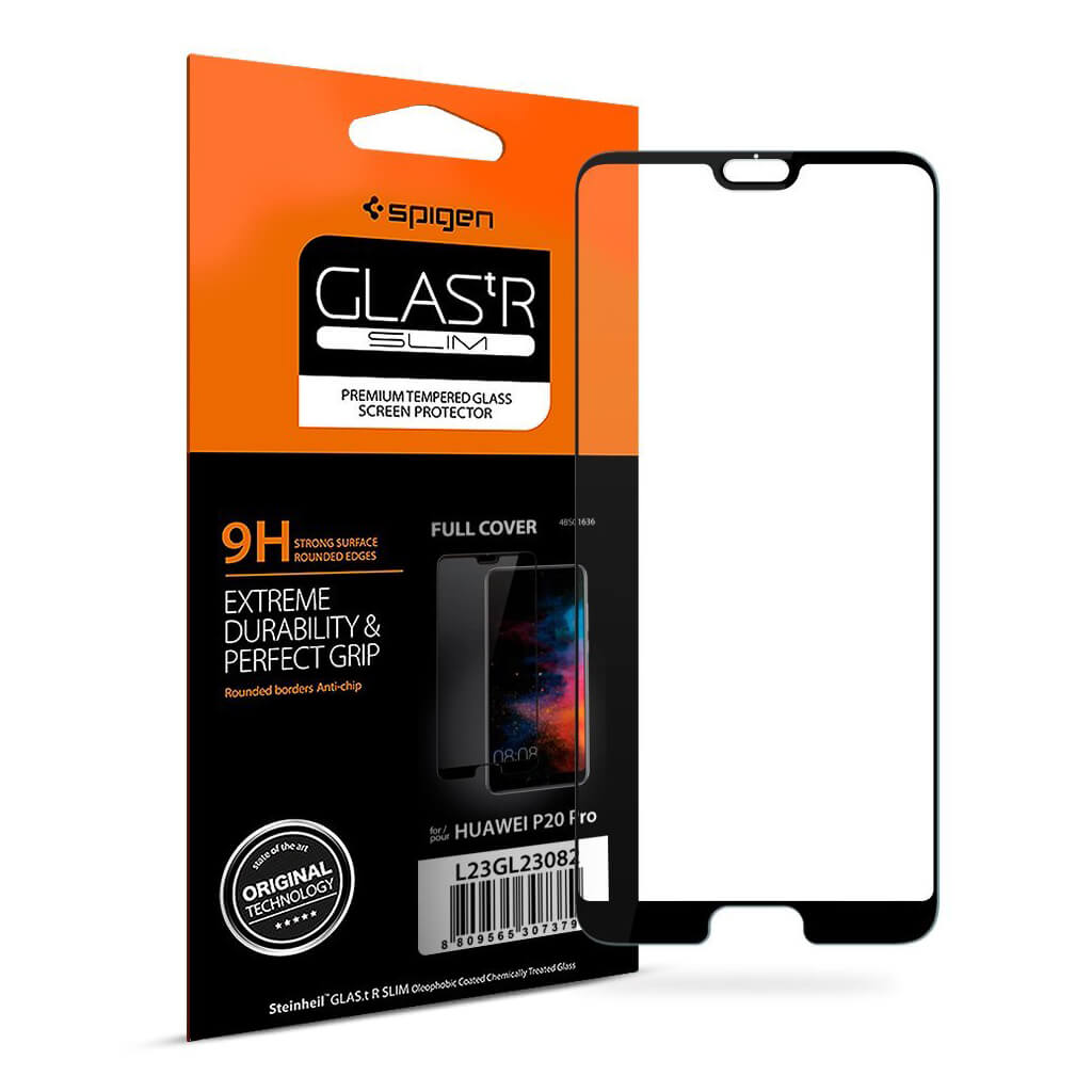 Spigen® GLAS.tR SLIM™ Huawei P20 Pro FULL COVER Premium Tempered Glass Screen Protector
