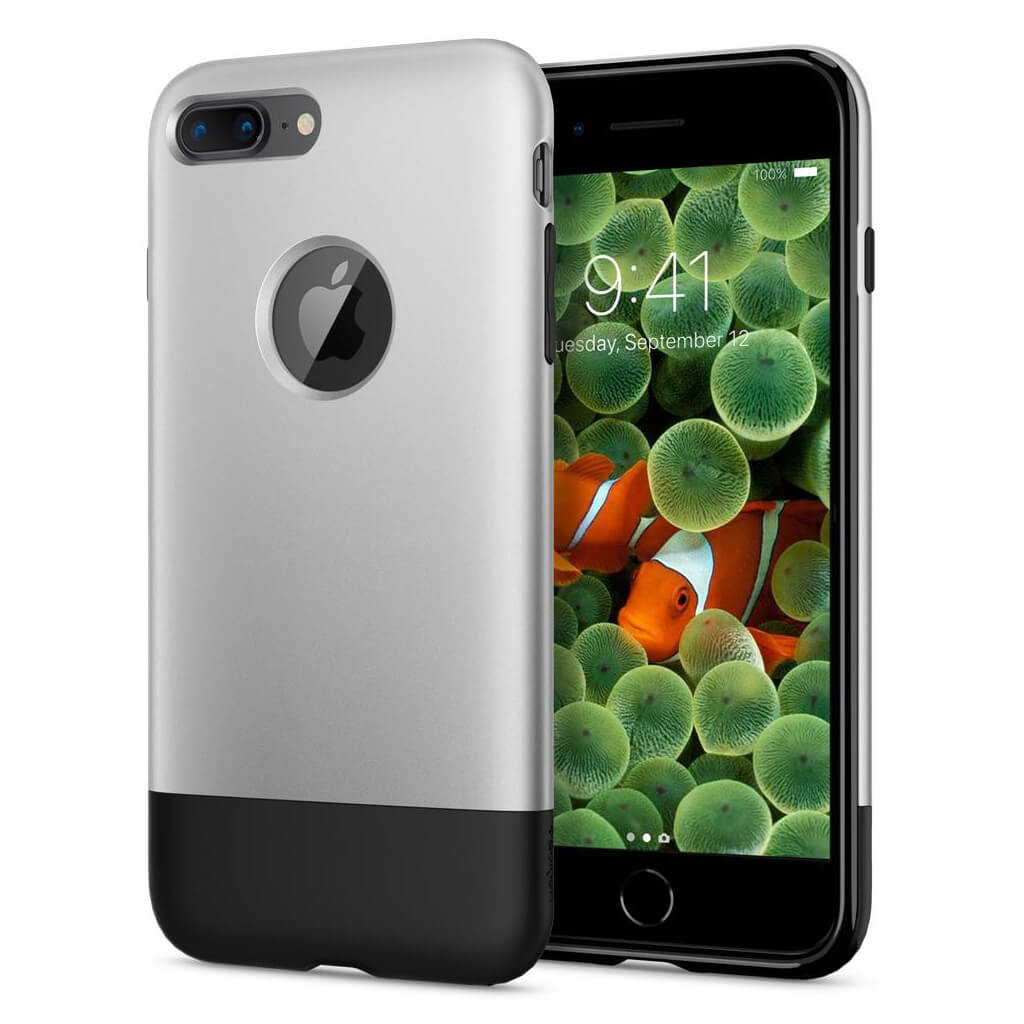 Spigen® Classic One™ 055CS24412 iPhone 8 Plus / 7 Plus 10th Year Anniversary Limited Edition Case - Aluminum Gray