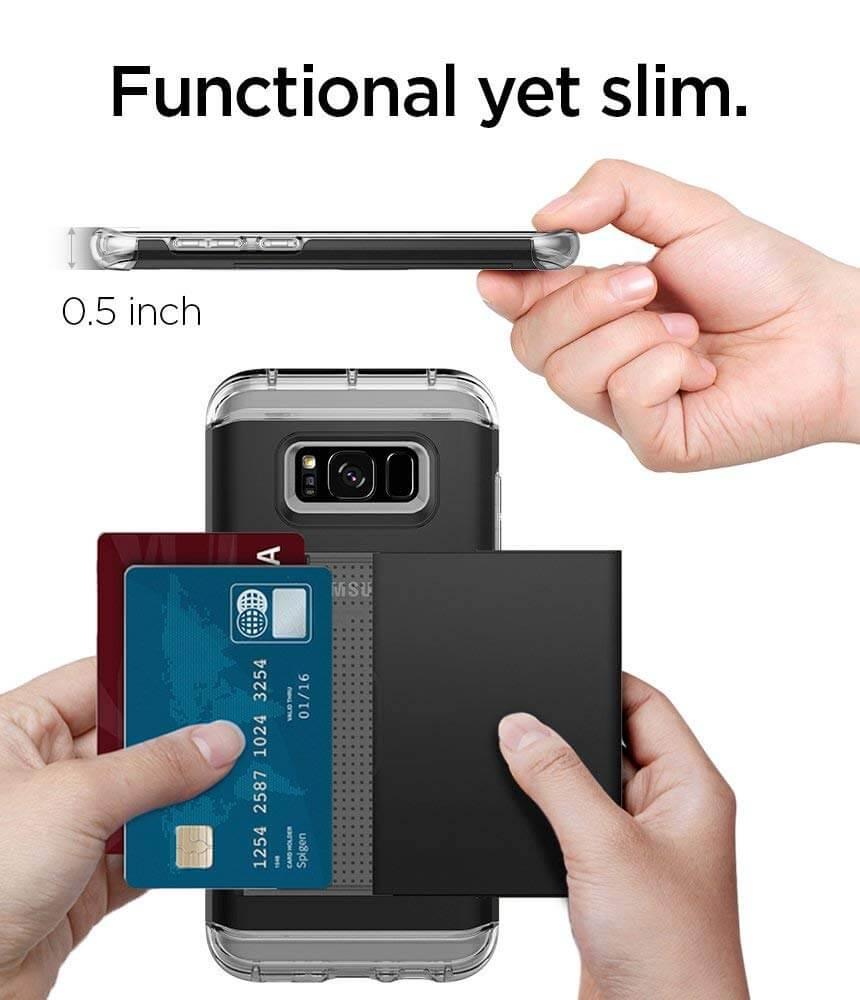 Spigen® Crystal Wallet™ 565CS21086 Samsung Galaxy S8 Case - Black