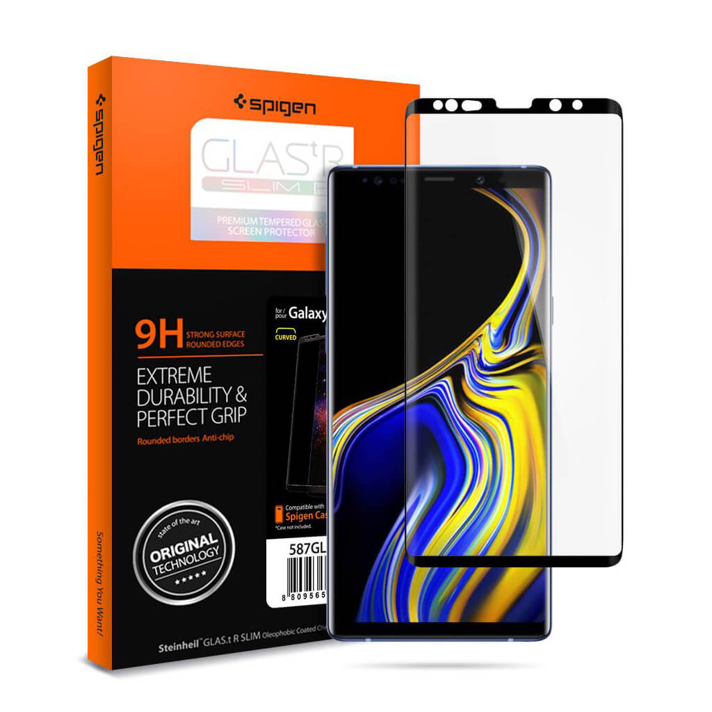 Spigen® GLAS.tR™ CURVED Samsung Galaxy Note 9 Full Cover Premium Tempered Glass Screen Protector