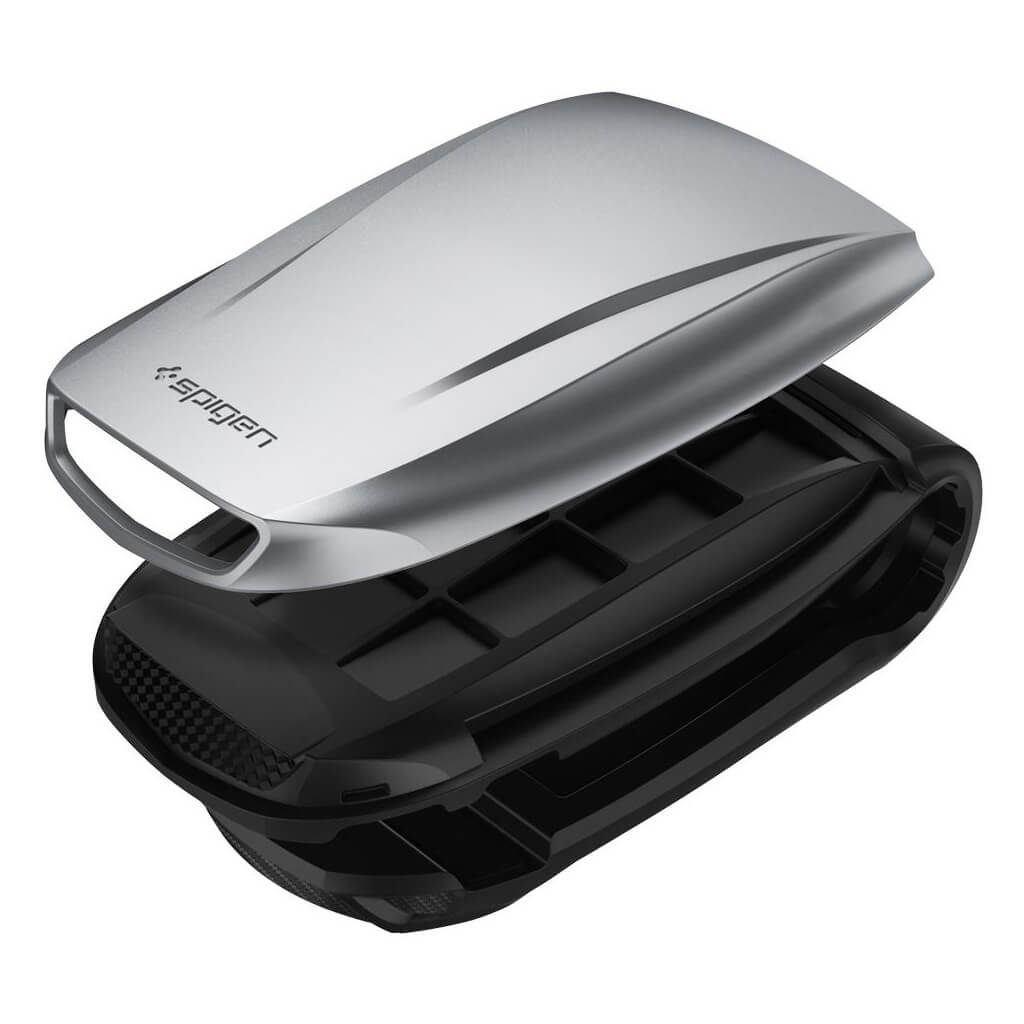 Spigen® Kuel® Turbulence S40-2 000CG21773 Car Mount Holder - Iridium Silver
