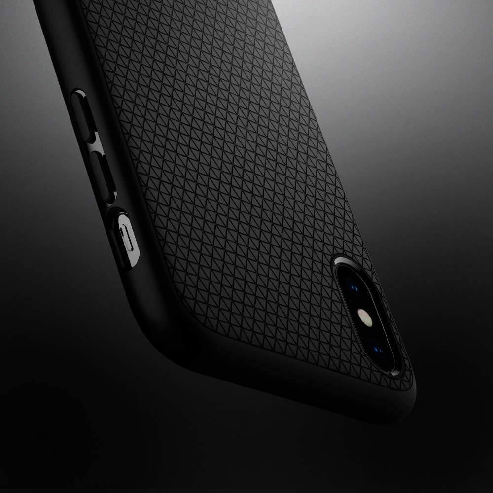 Spigen® Liquid Air™ 065CS25126 iPhone XS Max Case - Matte Black