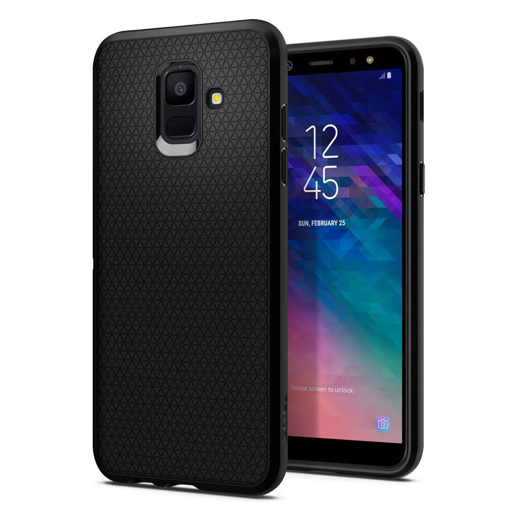 Spigen® Liquid Air™ 596CS24093 Samsung Galaxy A6 (2018) Case - Black