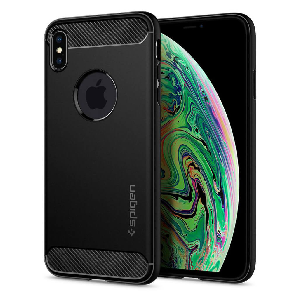 Spigen® Rugged Armor™ 065CS25125 iPhone XS Max Case - Matte Black