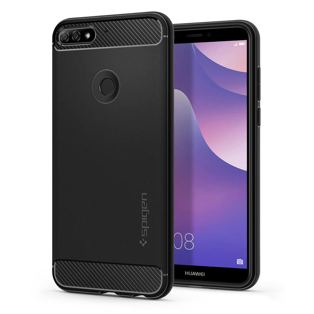 Spigen® Rugged Armor™ L29CS24127 Huawei Y7 Prime (2018) Case - Black