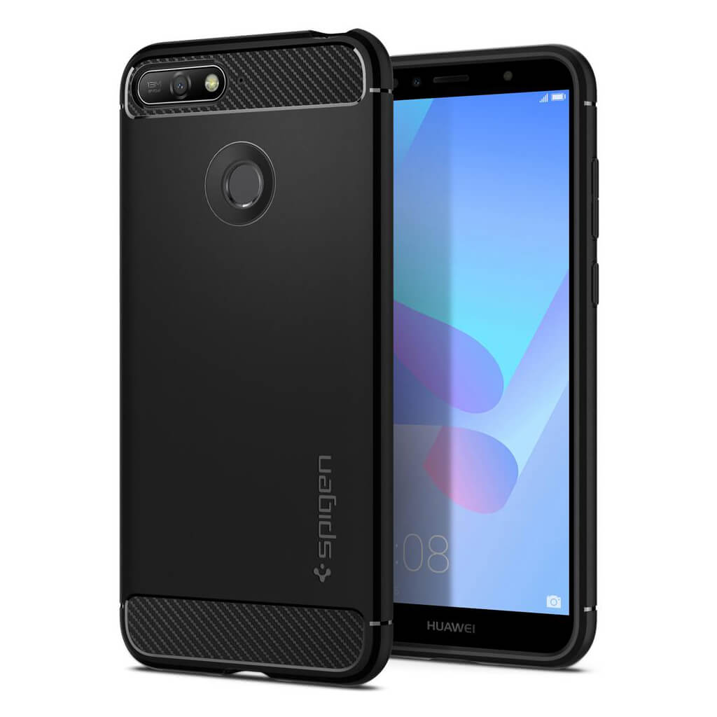 Spigen® Rugged Armor™ L30CS24128 Huawei Y6 Prime 2018 Case - Black