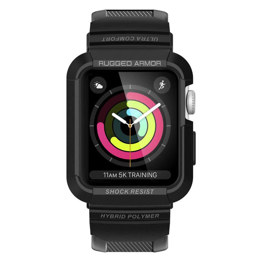 Spigen® Rugged Armor™ Pro 059CS22408 Apple Watch Series 3/2/1 (42mm) Case - Black
