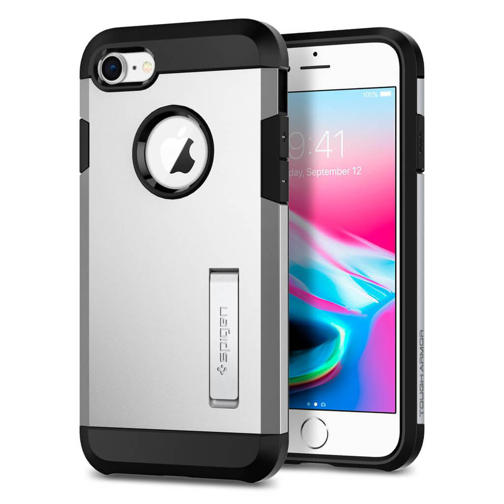Spigen® Tough Armor™ 2 054CS22217 iPhone 8 / 7 Case - Satin Silver