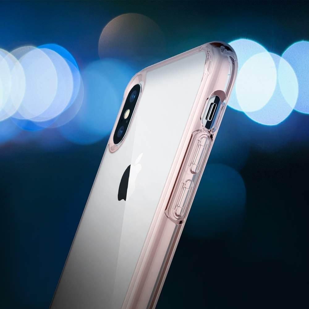 Spigen® Ultra Hybrid™ 065CS25129 iPhone XS Max Case - Rose Crystal