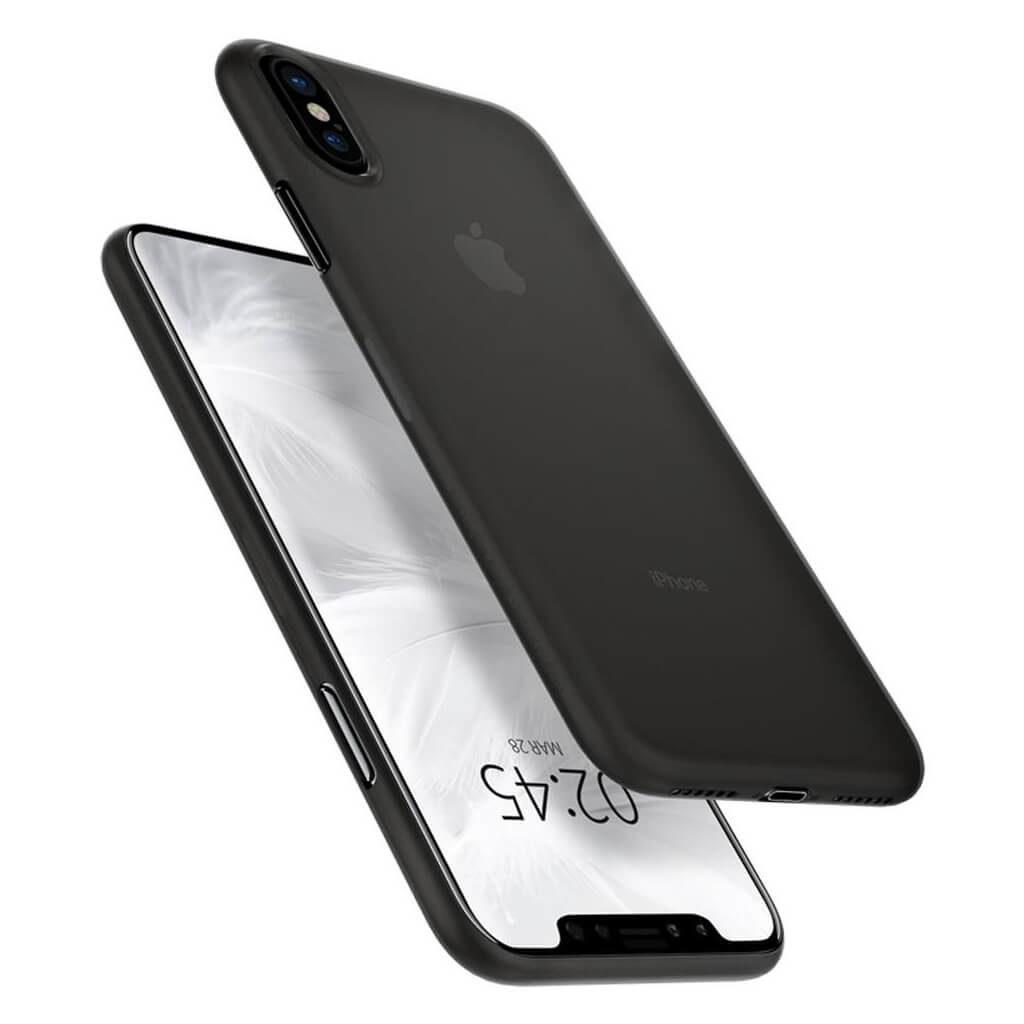 Spigen® AirSkin™ 063CS24910 iPhone XS / X Case - Black