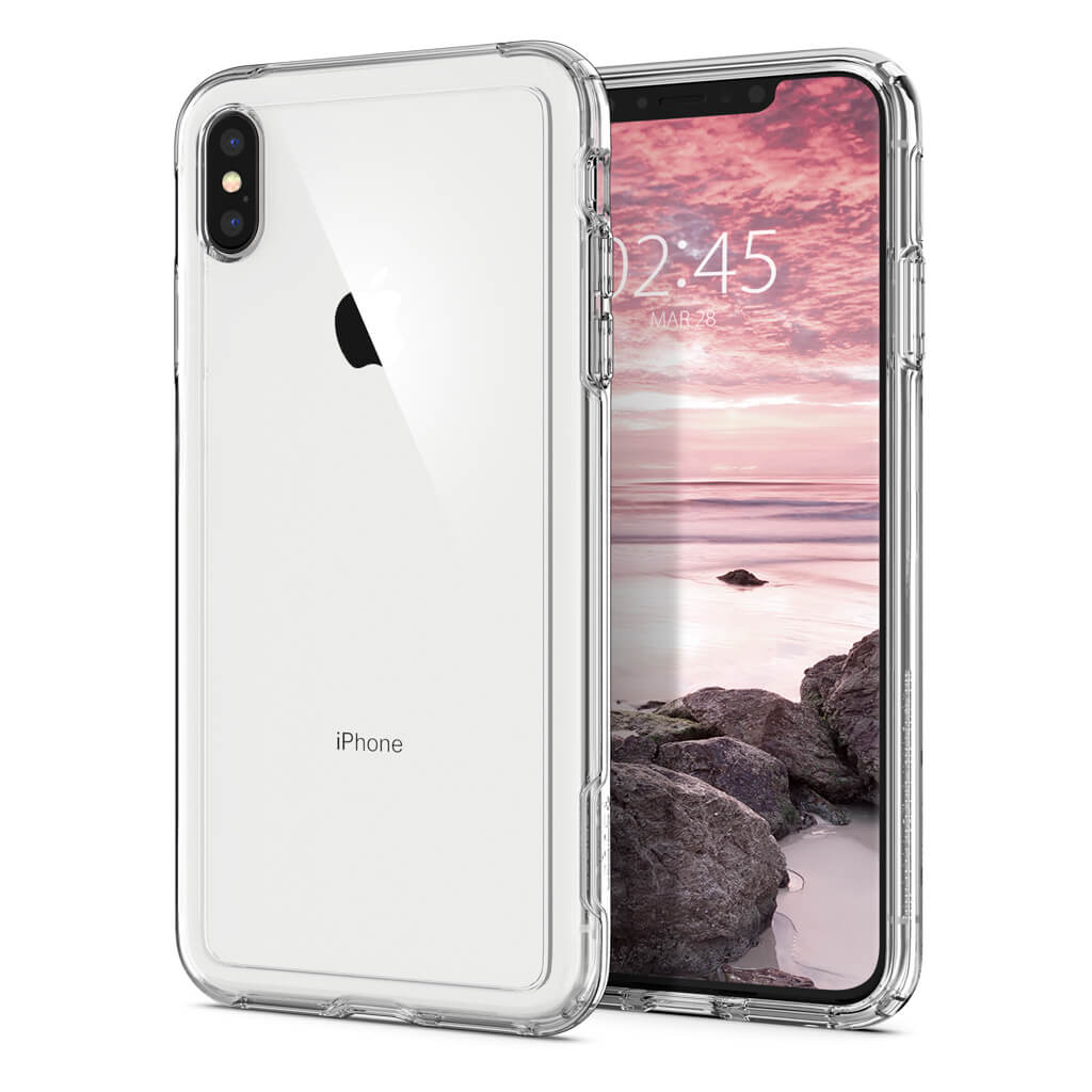 Spigen® Crystal Hybrid™ 065CS25160 iPhone XS Max Case - Crystal Clear