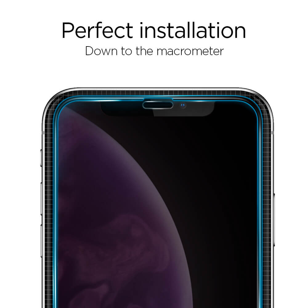 Spigen® GLAS.tR™ Full Cover HD iPhone XS Max Premium Tempered Glass Screen Protector