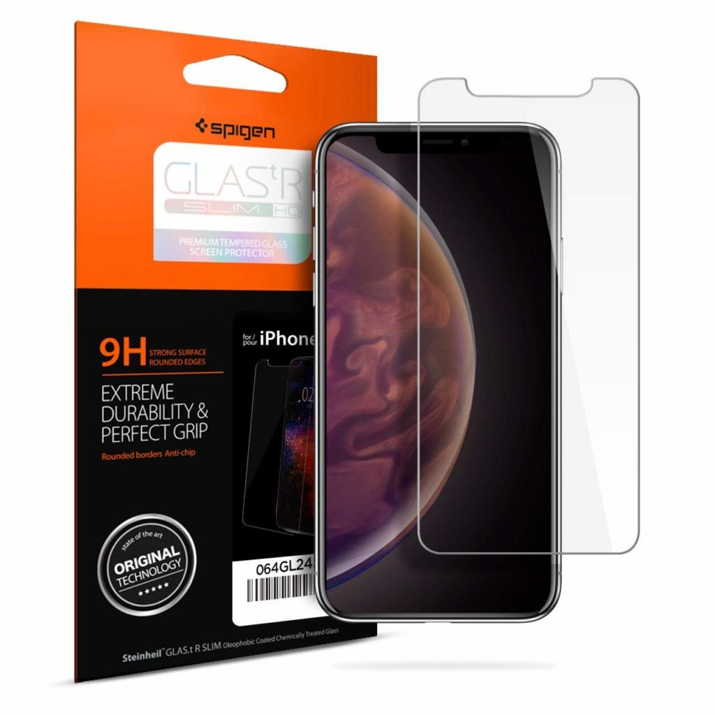 Spigen® GLAS.tR SLIM™ HD iPhone XR Premium Tempered Glass Screen Protector
