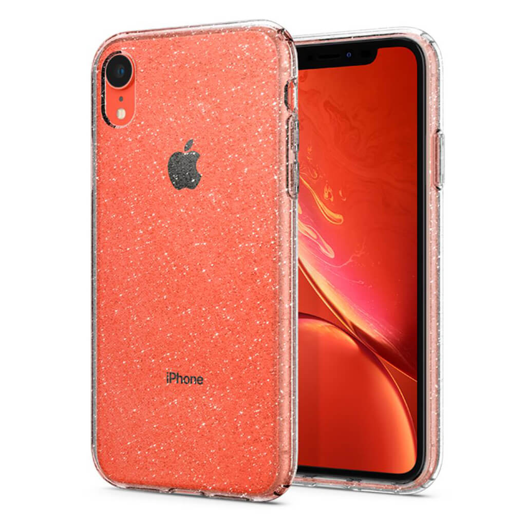Spigen® Liquid Crystal Glitter™ 064CS24867 iPhone XR Case - Crystal Quartz