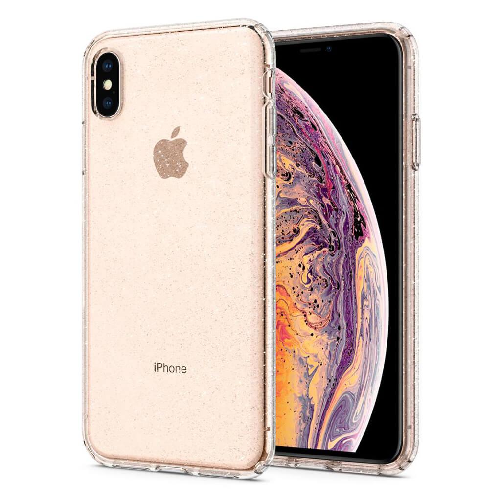 Spigen® Liquid Crystal Glitter™ 065CS25123 iPhone XS Max Case - Crystal Quartz