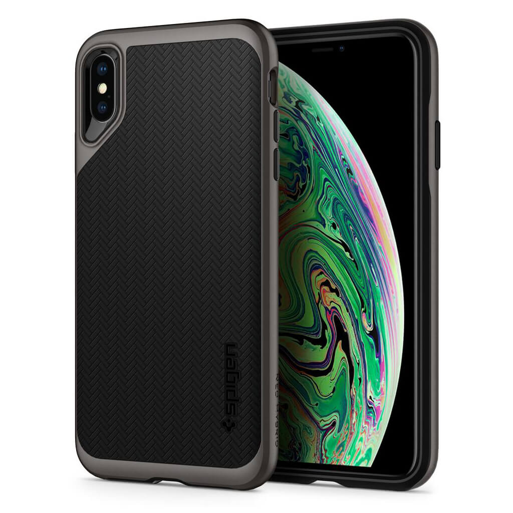 Spigen® Neo Hybrid™ 065CS24838 iPhone XS Max Case - Gunmetal