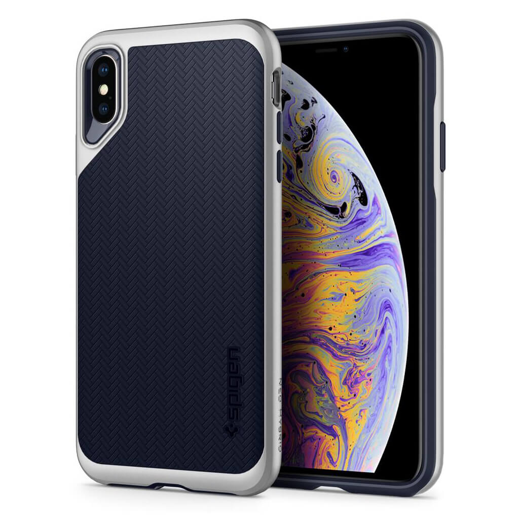 Spigen® Neo Hybrid 065CS24840 iPhone XS Max Case - Satin Silver
