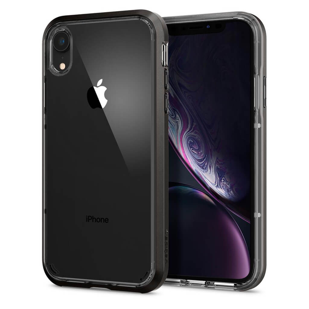 Spigen® Neo Hybrid Crystal™ 064CS24884 iPhone XR Case - Gunmetal