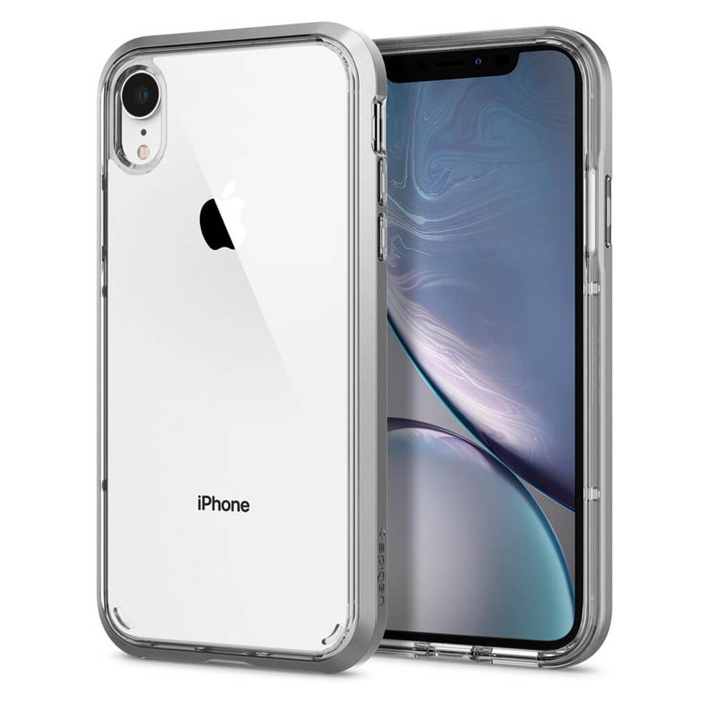 Spigen® Neo Hybrid Crystal™ 064CS24885 iPhone XR Case - Satin Silver