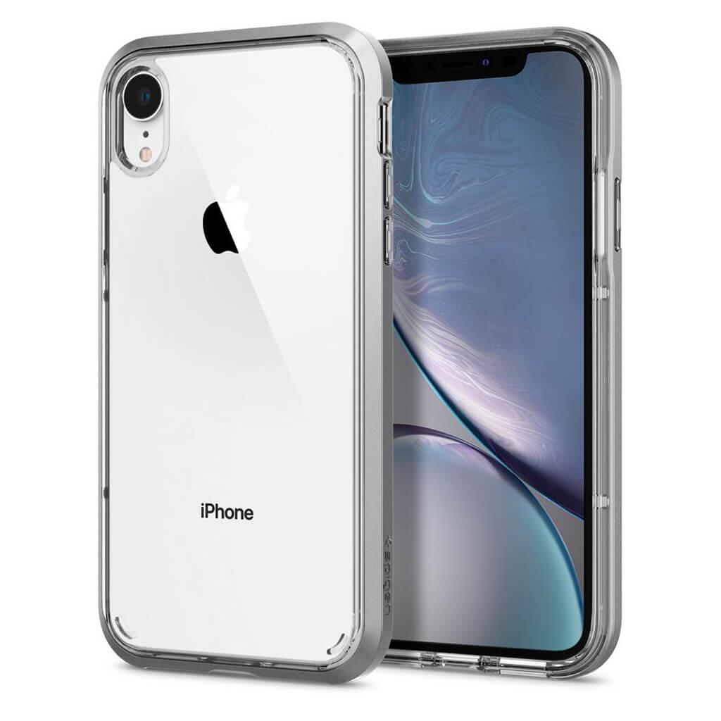 Spigen® Neo Hybrid Crystal™ 064CS24885 iPhone XR Case - Satin Silver