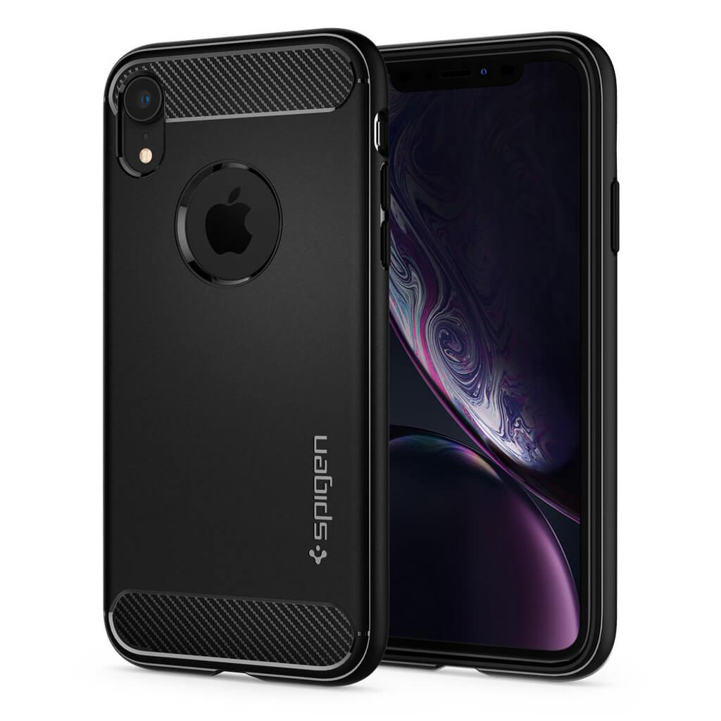 Spigen® Rugged Armor™ 064CS24871 iPhone XR Case - Matte Black