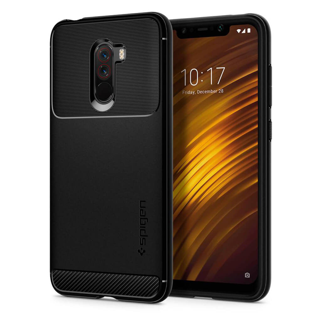Spigen® Rugged Armor™ S23CS25224 Xiaomi Pocophone F1 Case - Black
