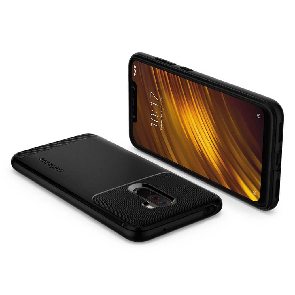 Spigen® Rugged Armor™ S23CS25224 Xiaomi Pocophone F1 Case - Black
