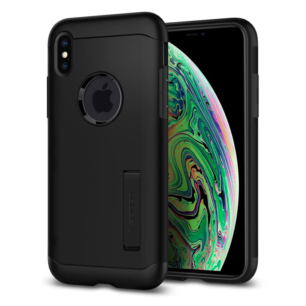 Spigen® Slim Armor™ 065CS25156 iPhone XS Max Case - Black