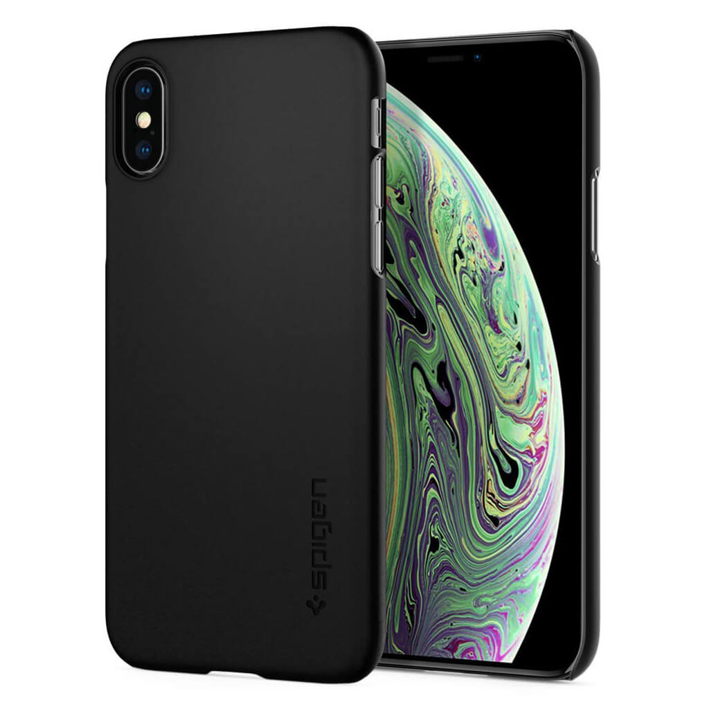 Spigen® Thin Fit™ 063CS24904 iPhone XS / X Case - Black