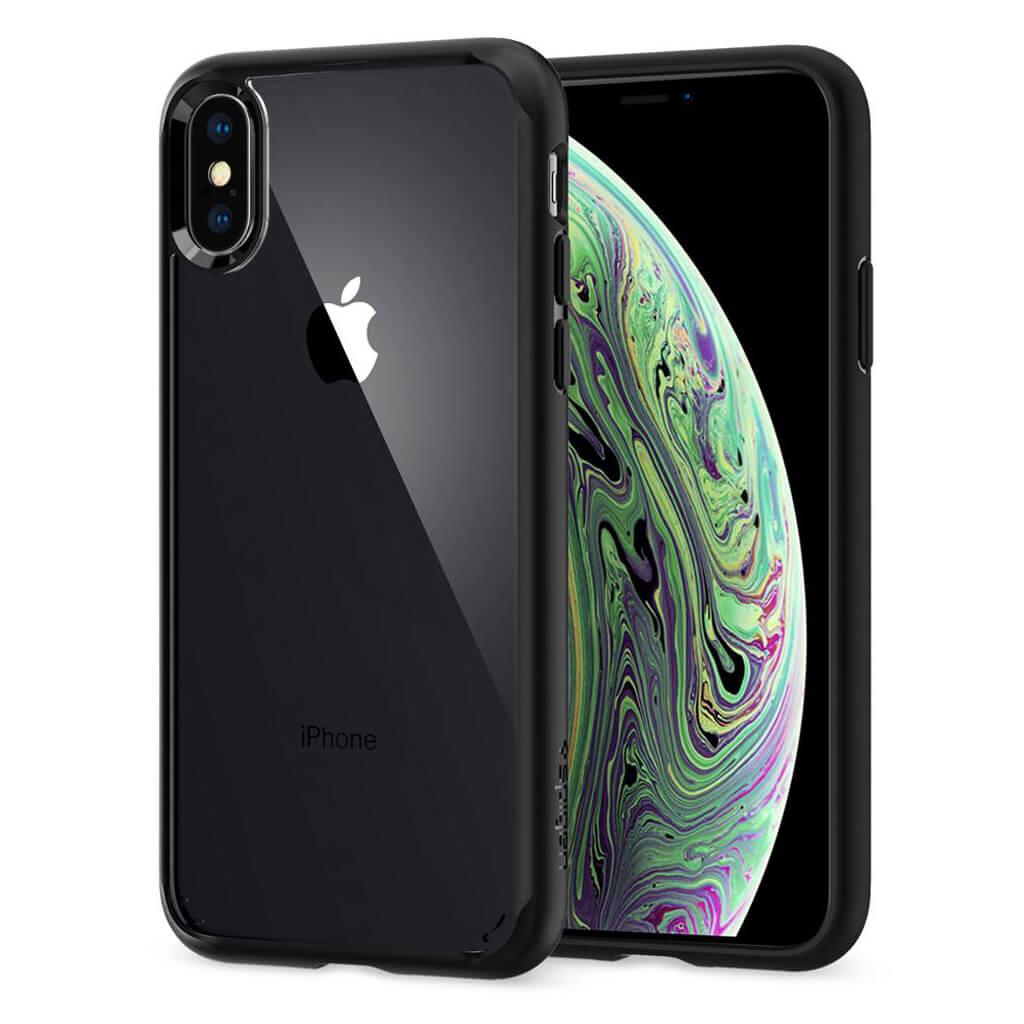 Spigen® Ultra Hybrid™ 063CS25116 iPhone XS / X Case - Matte Black