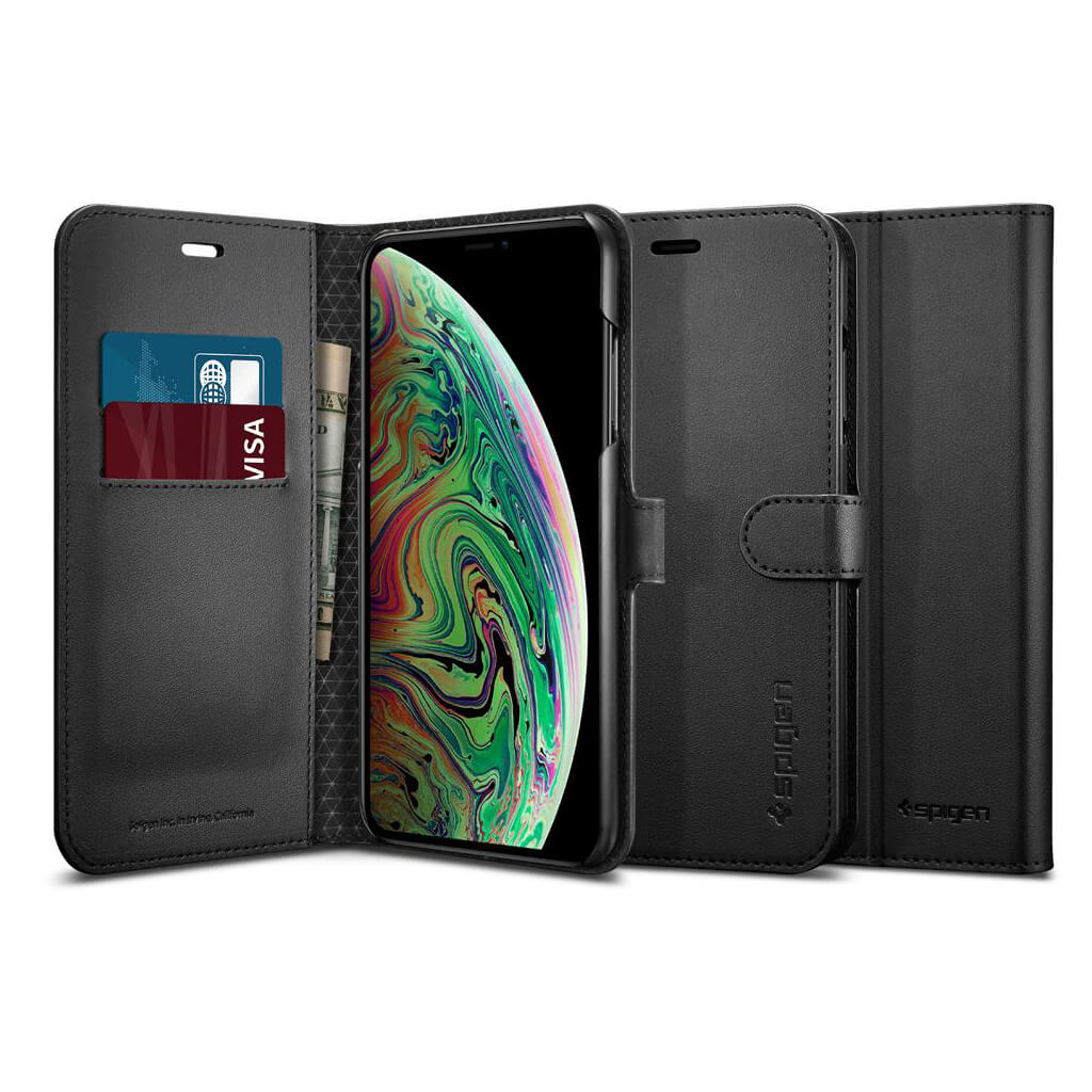 Spigen® Wallet S™ 065CS24841 iPhone XS Max Case - Black