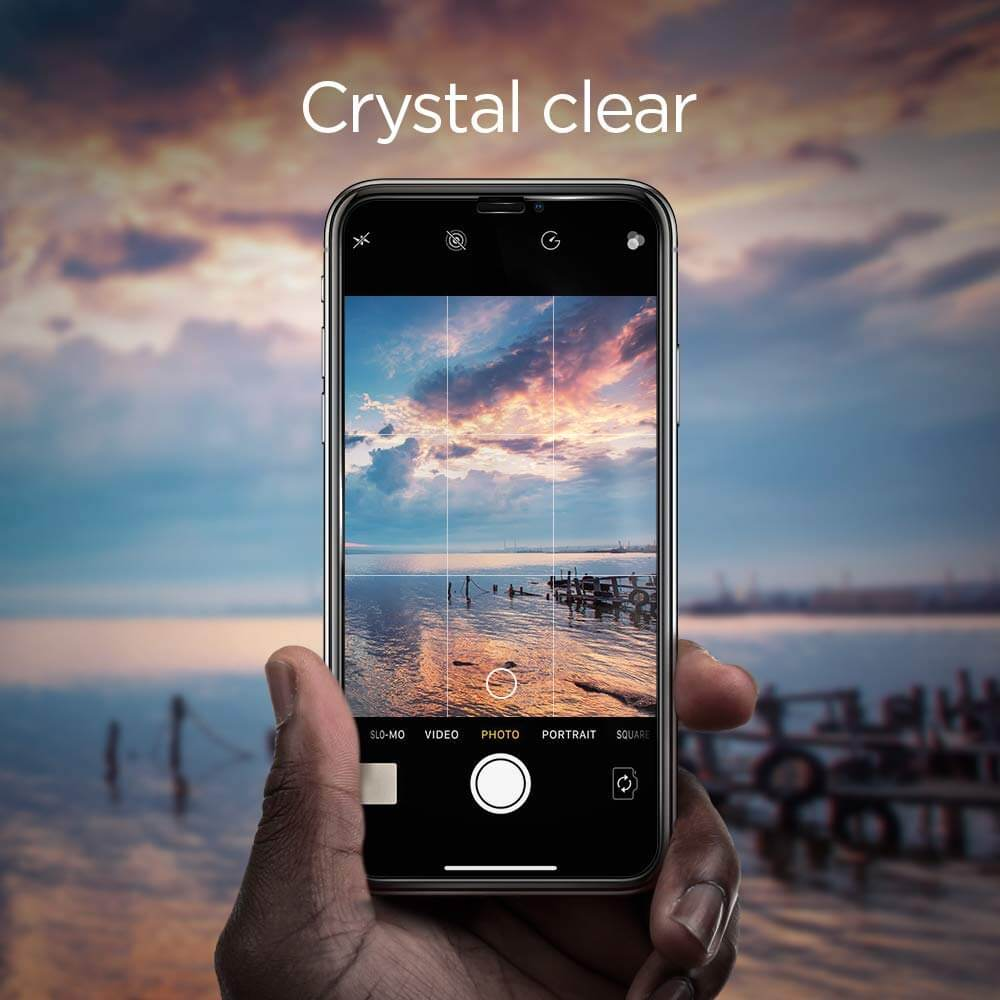 Spigen® (x2Pack) GLAS.tR EZ FIT™ Full Cover HD iPhone XS Max Premium Tempered Glass Screen Protector