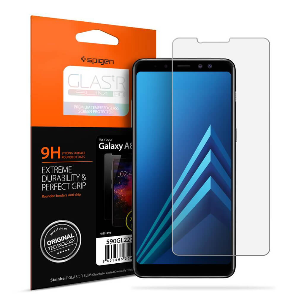 Spigen® GLAS.tR SLIM™ Samsung Galaxy A8 (2018) Premium Tempered Glass Screen Protector