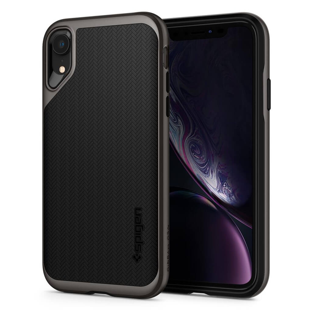Spigen® Neo Hybrid™ 064CS24878 iPhone XR Case - Gunmetal
