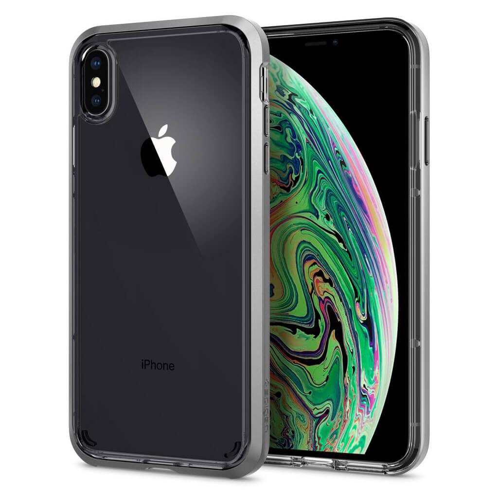 Spigen® Neo Hybrid Crystal™ 065CS24845 iPhone XS Max Case - Satin Silver
