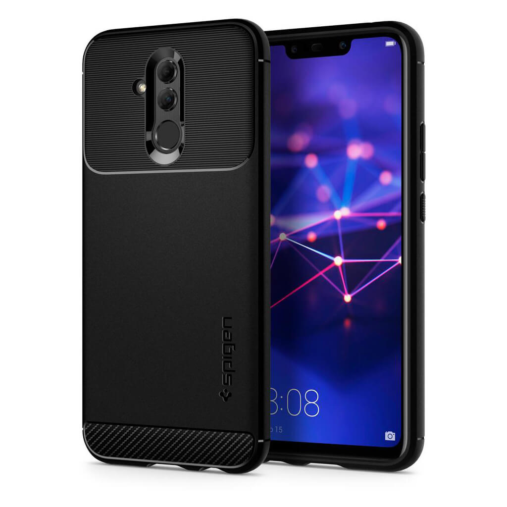 Spigen® Rugged Armor™ L35CS25065 Huawei Mate 20 Lite Case - Black