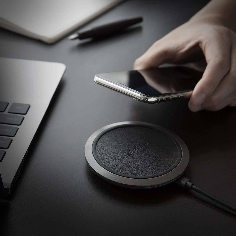 Spigen® Essential® F308W Qi Fast Wireless Charger - Black