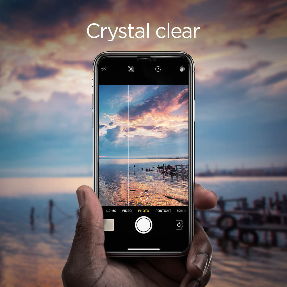 Spigen® GLAS.tR™ FULL COVER HD iPhone XR Premium Tempered Glass Screen Protector